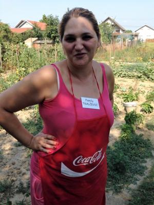 Rejna Tkalcevic in her garden in Croatia