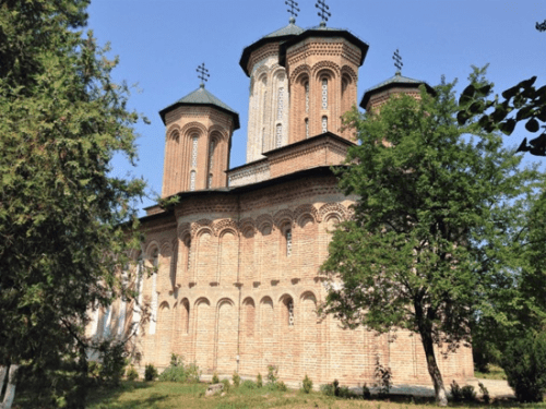 The stone church at Snagov Monastery, in Romania, dates from the 15th century. It sits on a small lake island that has held a church since the 11th century