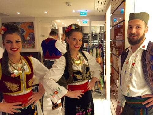 Serbian musicians and dancers