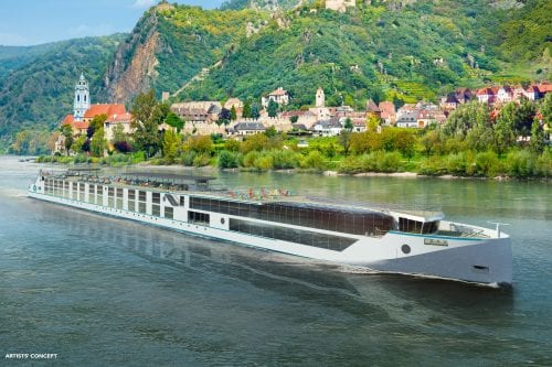 Artist rendering of the Crystal Bach and Crystal Mahler (Courtesy of Crystal River Cruises)