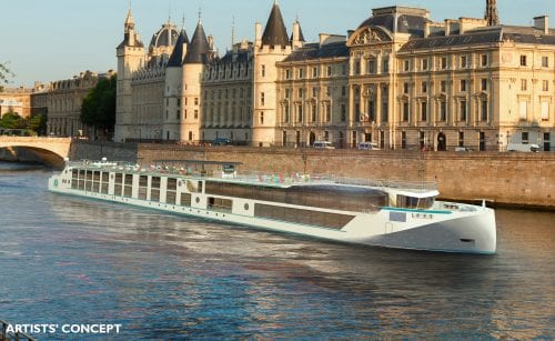 Artist rendering of the Crystal Debussy and Crystal Ravel (Courtesy of Crystal River Cruises)