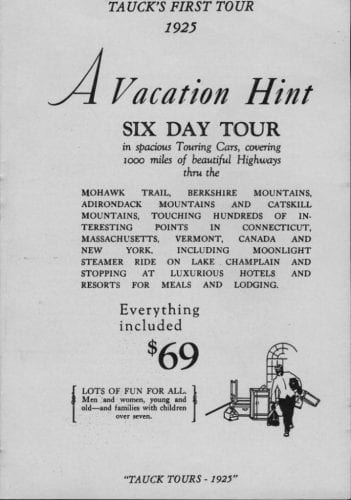First Tauck tour ad