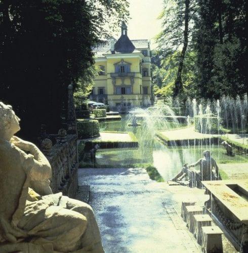 Hellbrunn Castle garden in Salzburg, Austria