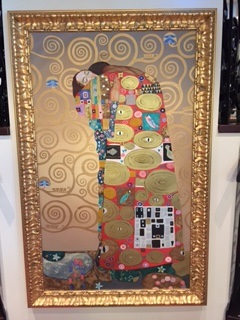 Gustav Klimt is everywhere. This one, off the dining room
