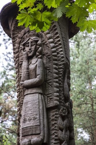 This intricately carved example is one of the more than 80 sculptures gracing the Hill of Witches near Klaipeda.