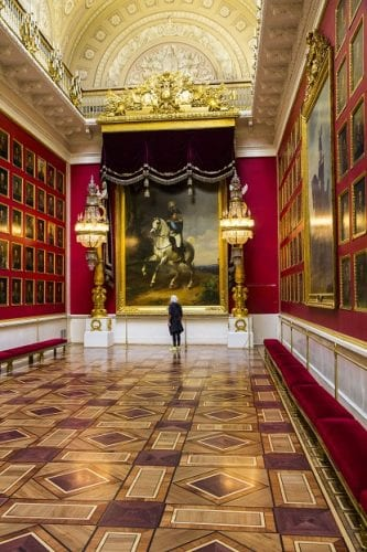 The 1812 War Gallery at the Hermitage Museum, St. Petersburg, Russia.