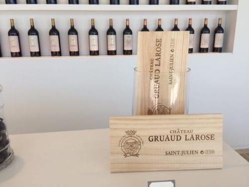 Tasting at Chateaux Gruaud Larose