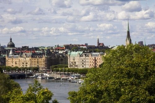 Sweden's beautiful captal city of Stockholm spreads out over 14 islands.