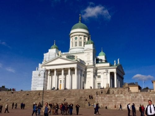 The Lutheran-Cathedral on Senate Square in Helsinki, Finland