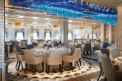 Compass Rose, the main dining room on Seven Seas Explorer (Photo courtesy of Regent Seven Seas Explorer)