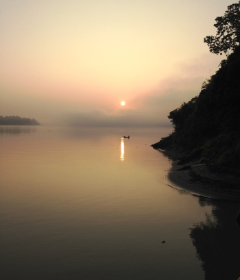 Sunrise on the Irrawaddy in northern Myanmar