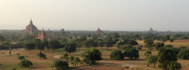 Bagan, Myanmar, just before sunset