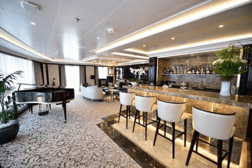 Regent Suite goes for $10,000 a night. (Photo courtesy of Regent Seven Seas Cruises)
