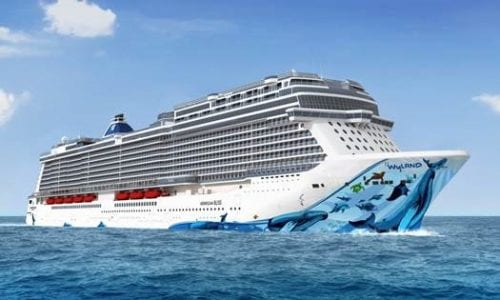 Rendering of Norwegian Bliss featuring the new hull artwork (Courtesy of Norwegian Cruise Line)