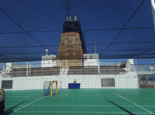Sports area and climbing wall on Norwegian Gem