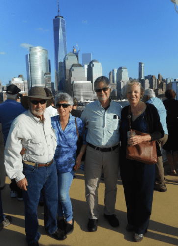 Our group on the Norwegian Gem leaving New York