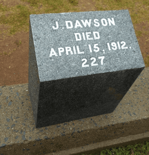 Titanic headstone in Halifax often mistaken for fictional Jack Dawson of the 1997 movie