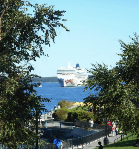 Norwegian Gem anchored off Bar Harbor ME