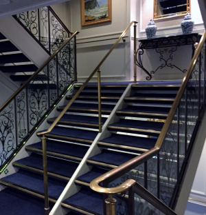 Sirena stairwells, a feature on all R-class ships, are like those of a classic boutique hotel.