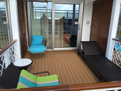 The patio for one of the Havana staterooms