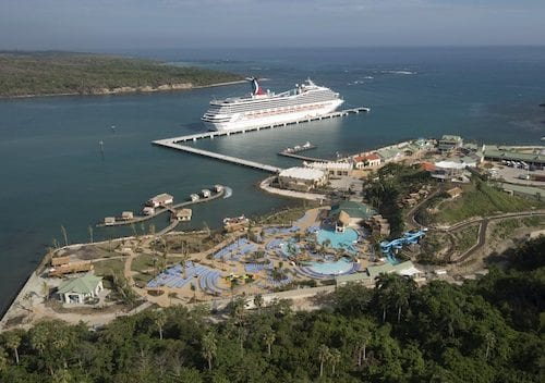 Amber Cove is a new $85 million port developed for Carnival Corporation cruise ships.