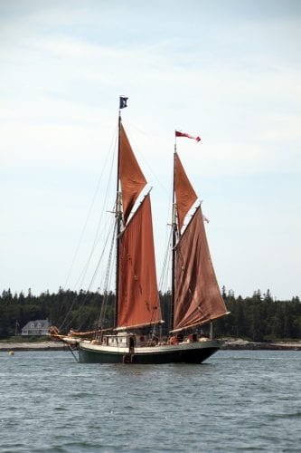 The Angelique in harbor