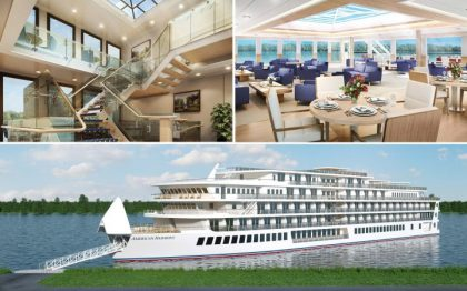 American Harmony, 2nd Modern Riverboat Launched 4 Weeks Ahead of Schedule