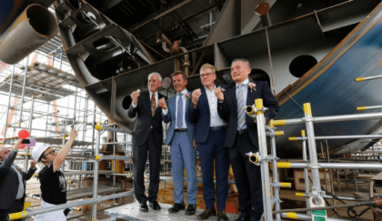 Victory Cruise Lines Successful Keel Laying Ceremony for New Vessel