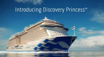 Introducing Princess Cruises Sixth Royal-Class Cruise Ship- The Discovery Princess. Reservations Open Oct. 8, 2019