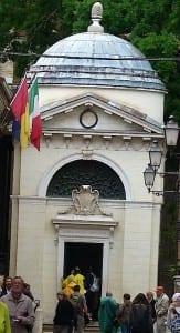 Dante's tomb in Ravenna, Italy.