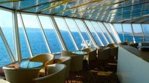 The magnificent view of the Horizons Bar on the Louis Cristal