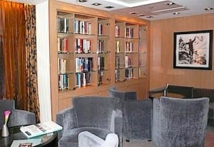 Seabourn Square has many comfy nooks for relaxing.