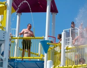 Youngsters of all ages like the water sports aboard the Carnival Breeze.