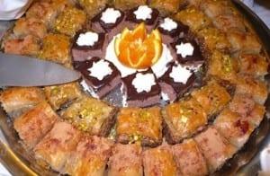Baklava is a favorite dessert on the Louis Cristal.