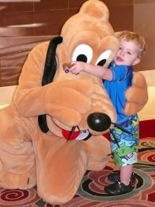 Children of all ages are delighted by Disney characters aboard the Disney Magic.