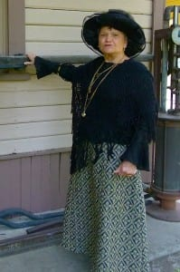 "Lois Hahn portrays Walla Wall's famed madam, ""Dutch Jo"" Wolfe who insisted that her employees dress modestly."