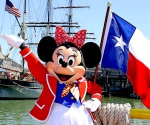 Minnie Mouse welcomes the Disney Magic to the port of Galveston, Texas. (Courtesy photo)
