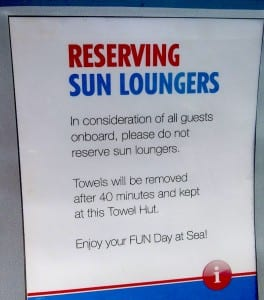 A new policy on Carnival Cruise LInes is designed to be sure all guest get a chance at the popular sun loungers.