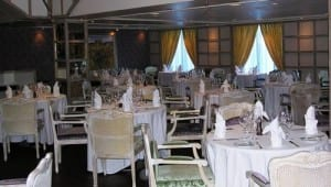 Riviera's restaurant designed by Jacques Pepin awaits the dinner crowd