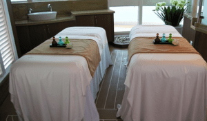 Massage tables for couples on the Royal Princess
