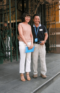 Avalon cruise director Phiem and his wife, Huyen
