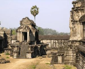 Angkor Wat honors the Hindu god Vishnu