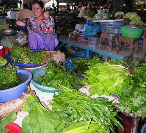 Smiles from a market lady in Vietnam