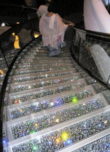 Swarovski crystals in Divina's atrium