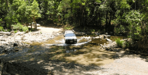 The main road crossing Daintree National Park, Queensland, Australia