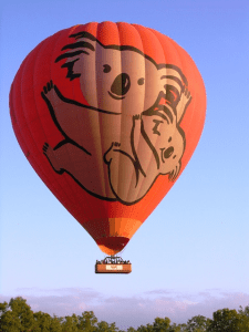 Ballooning out of Cairns, Australia