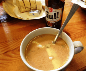 Lobster soup in Iceland