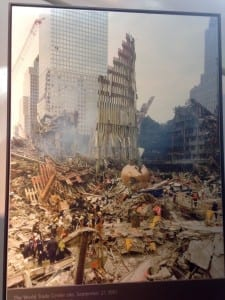A picture of the devastation after the attacks of 9/11
