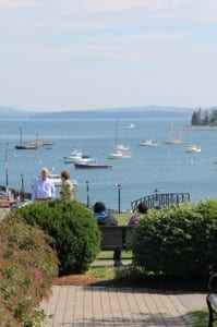 A view of the harbor at Bar Harbor, ME