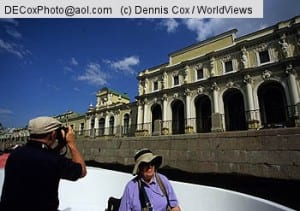 St. Petersburg, Russia: Tourists on canal tour